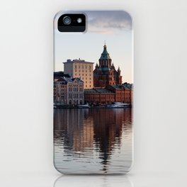 Helsinki Cityscape with Uspenski Cathedral iPhone Case