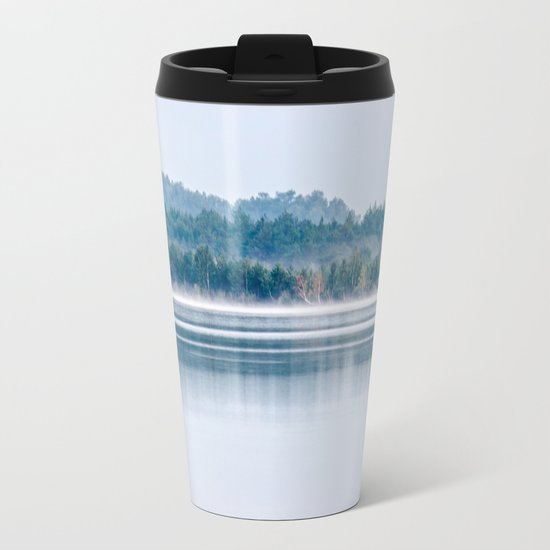 Morning begins with mist Metal Travel Mug