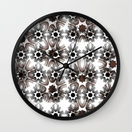 Abstract geometric pattern.10 Wall Clock