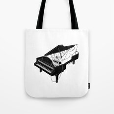 Turn on the music, Turn off your mind Tote Bag