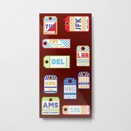 Retro airport ticket Metal Print
