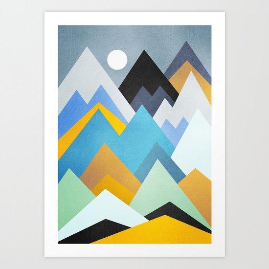 Golden Winter Art Print