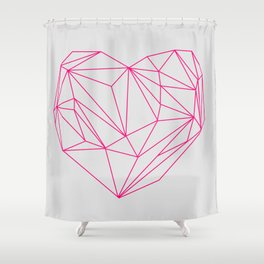 Heart Graphic Neon Version Shower Curtain