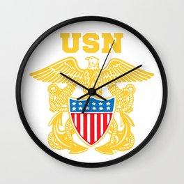 Navy Insignia Wall Clock