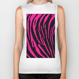 Pink Tiger Stripes Biker Tank
