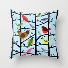 For All The Birds  Throw Pillow