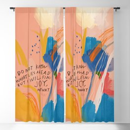 Find Joy. The Abstract Colorful Florals Blackout Curtain