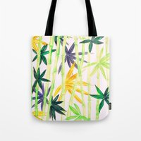 bamboo Tote Bags featuring Bamboo by Federico Faggion