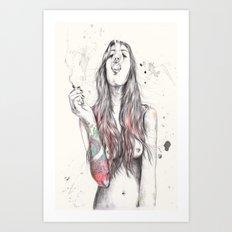 SmkngWomen Art Print