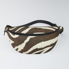 ANIMAL PRINT ZEBRA IN WINTER 2 BROWN AND BEIGE Fanny Pack