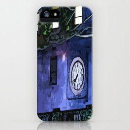 GNOMES IN THE CLOCKTOWER CHILDRENS GRAPHIC ART  iPhone Case