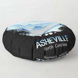 Asheville Blue Ridge Mtns - AVL 1 Black Floor Pillow