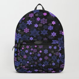 Christmas Snowflakes at Night Backpack