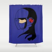 megaman Shower Curtains featuring Enforcer Megaman by DonCorgi