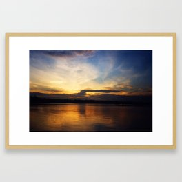 Kollam river, Kerela, India Framed Art Print