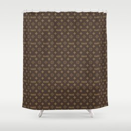 Fake LV Shower Curtain