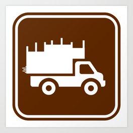 "Urban Pictograms ""Cardboard Guys"" Art Print"