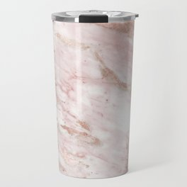 Pink marble - rose gold accents Travel Mug