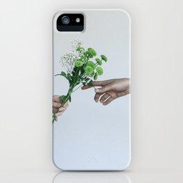 flower hands iPhone Case