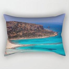 Balos Lagoon, Crete. Rectangular Pillow
