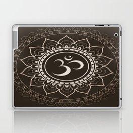 Espresso Brown Om Mandala Laptop & iPad Skin