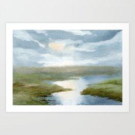 Upriver Art Print