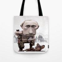 putin Tote Bags featuring Putin by cristosalgado
