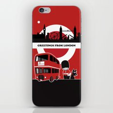 Greetings from London iPhone & iPod Skin