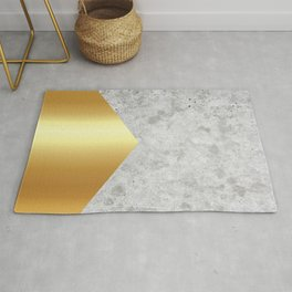 Geometric Concrete Arrow Design - Gold #372 Rug
