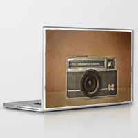 camera Laptop & iPad Skins featuring CAMERA by Monika Strigel