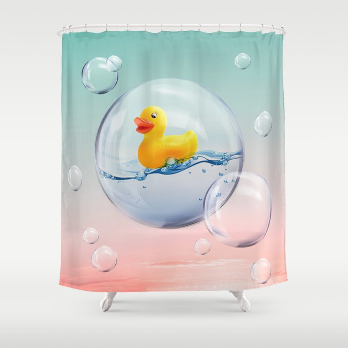 The Bubble Ducky Shower Curtain