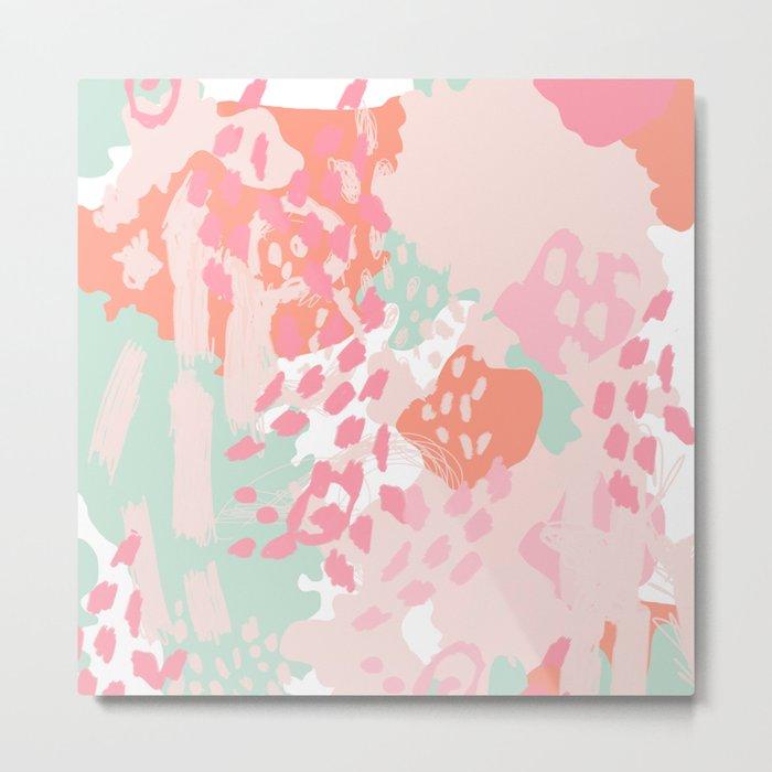 Brinley - abstract painting minimal modern art print home decor must haves Metal Print