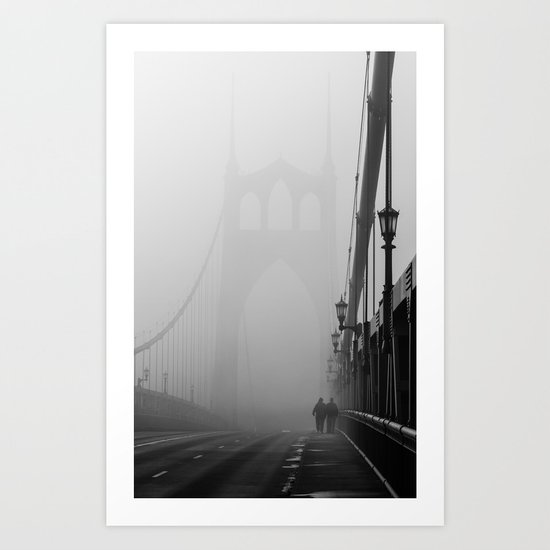 Gothic Bridge Art Print