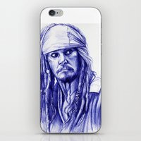 jack sparrow iPhone & iPod Skins featuring Jack Sparrow by Luna Perri