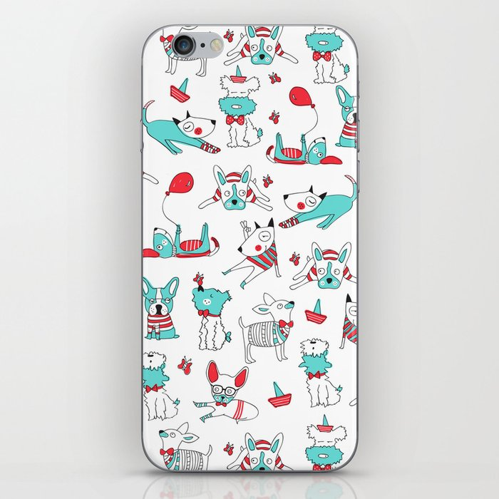 One dog and his friends iPhone Skin