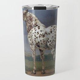 The horse blanc noir  Travel Mug