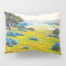 A Spring Morning, Poppies and California Bush Lupine by John Marshall Gamble Pillow Sham