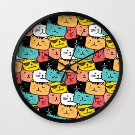 Cats Cats Everywhere Wall Clock