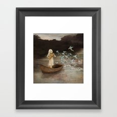 Solo at Dawn Framed Art Print