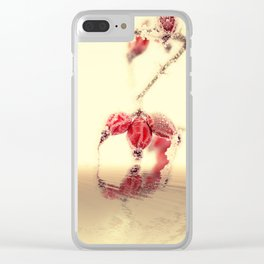Winter time with red rosehips Clear iPhone Case