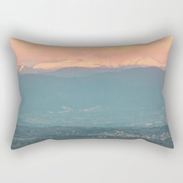 Sunset on the Italian Apennines Rectangular Pillow