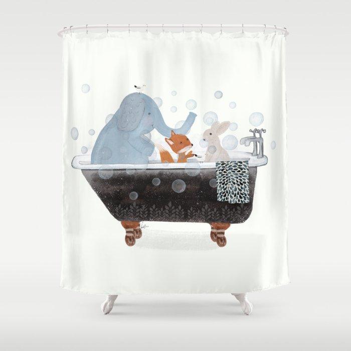 little bath time Shower Curtain