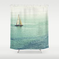 sailing Shower Curtains featuring Sailing by Lawson Images