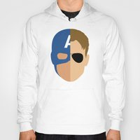 steve rogers Hoodies featuring Captain Rogers by Nick Kemp