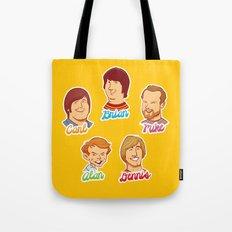 Alan & Dennis & Brian & Mike & Carl Tote Bag