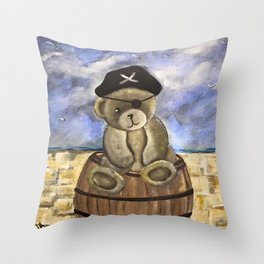 Pirate Ahoy Teddy Throw Pillow