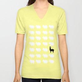 Don't be a sheep, Be a Llama Unisex V-Neck