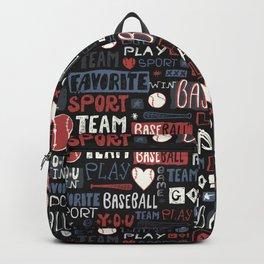 Sport. Baseball pattern. Backpack