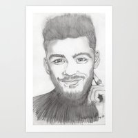 zayn Art Prints featuring zayn by stylin_art