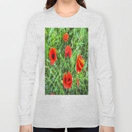 Poppy's Of Summer Long Sleeve T-shirt